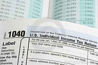 United States Income Tax Form 1040