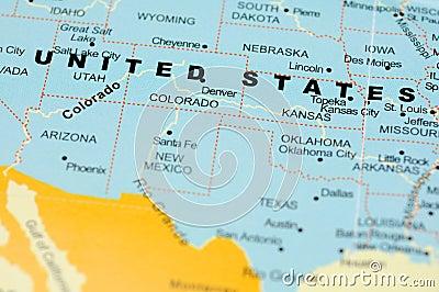 United States on map