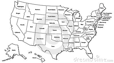 Us Map Outline States