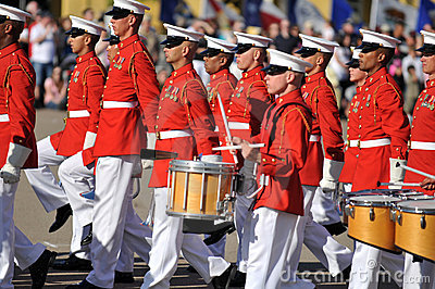 United States Marine Corp Marching Band. Editorial Stock Image