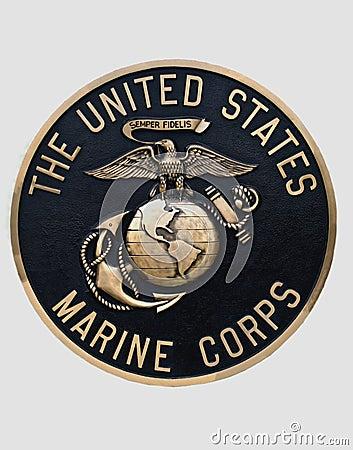 United states marine corps emblem Editorial Image