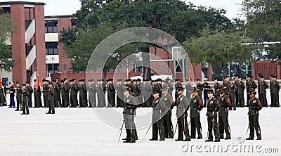 United States Marine Corps Graduation Ceremony Editorial Image