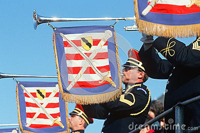 United States marinkorpraltrumpetarear Redaktionell Foto