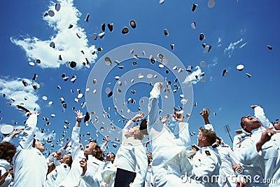United States Naval Academy Graduation Ceremony Editorial Stock Photo