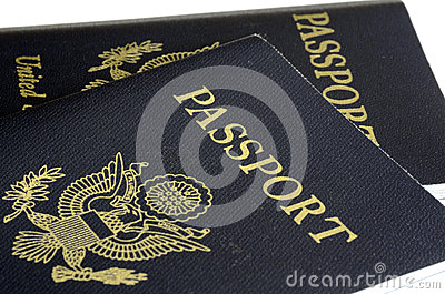 United States passport front cover