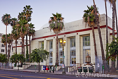 United States Post Office, Hollywood Station Editorial Photography
