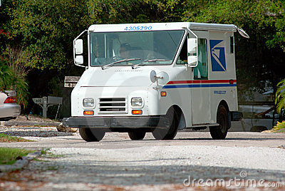 United States Postal Service truck van Editorial Photography