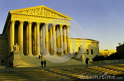 The United States Supreme Court in the evening sun