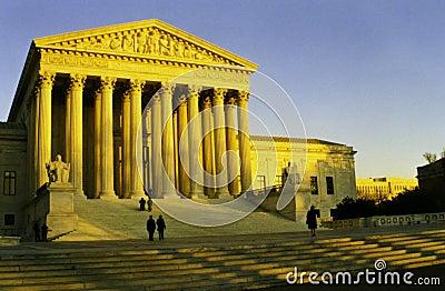 United States Supreme Court evening sunset, Washtington, D.C.