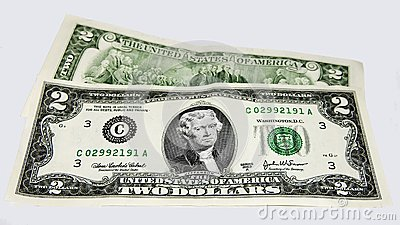 United States two dollar bills