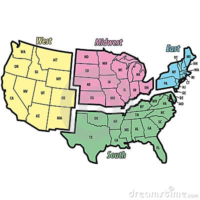 United States Map East And West