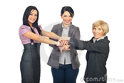 United team of business women