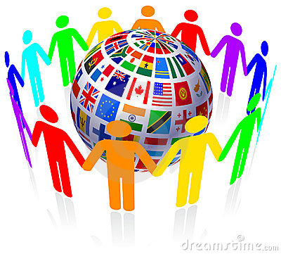 Free Unity And Flags Globe Royalty Free Stock Images - 14271959