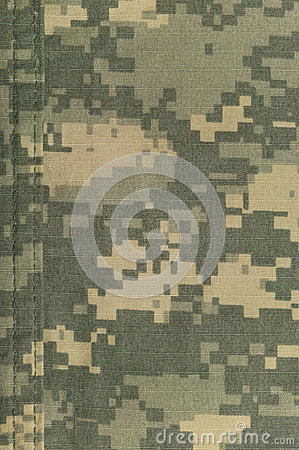 Free Universal Camouflage Pattern, Army Combat Uniform Digital Camo, Double Thread Seam, USA Military ACU Macro Closeup, Detailed Large Royalty Free Stock Photography - 50710277