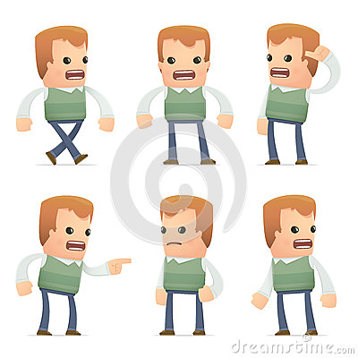 Free Universal Characters In Different Poses. Genius. Royalty Free Stock Images - 41873559