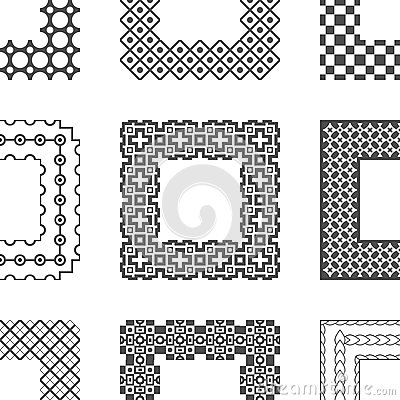 Universal different vector pattern brushes with