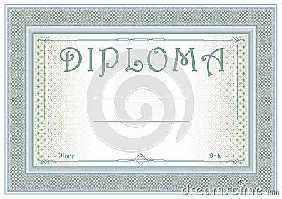 Universal diploma in sage-green