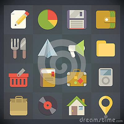 Free Universal Flat Icons For Web And Mobile Set 4 Stock Photos - 31484443