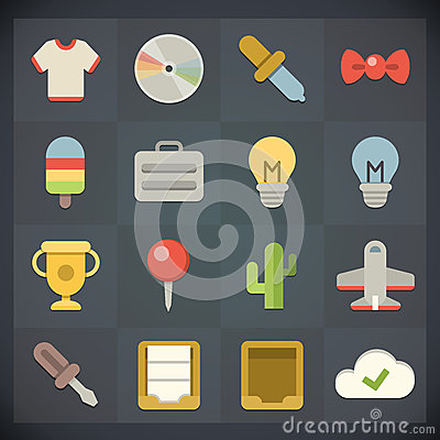 Free Universal Flat Icons For Web And Mobile Set 8 Royalty Free Stock Photography - 31484577