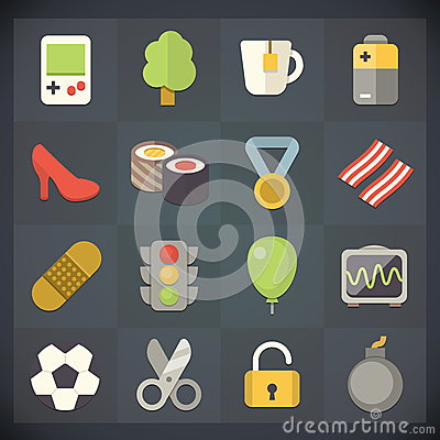 Universal Flat Icons for Web and Mobile Set 12