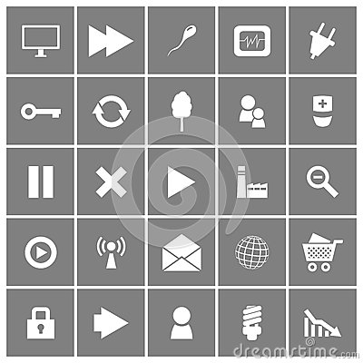 Universal Flat Vector Icons Set 2