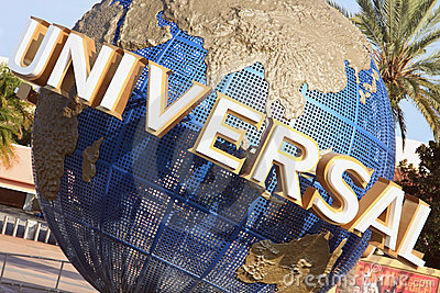 Universal Globe in Orlando, Florida Editorial Photo