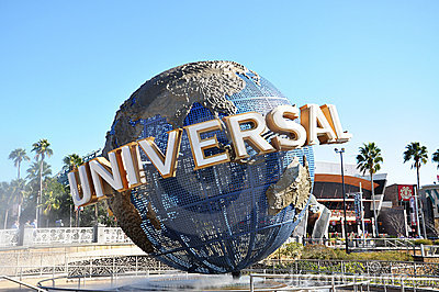 Universal Globe in Universal Orlando Editorial Stock Image