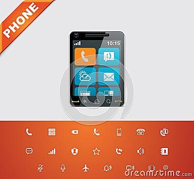 Free Universal Glyphs 12. Phone Symbols 1 Stock Photos - 23090703