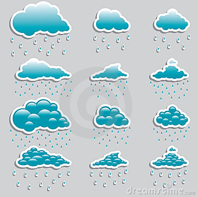 Universal icons clouds - Set  (Weather)
