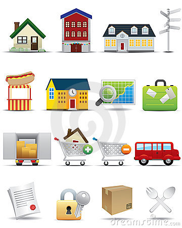 Universal icons Set -- Real Estate Icon