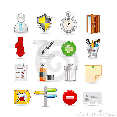 Free Universal Set Of Icons Royalty Free Stock Photography - 13409687