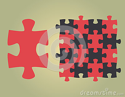 Puzzle universal shape in vector