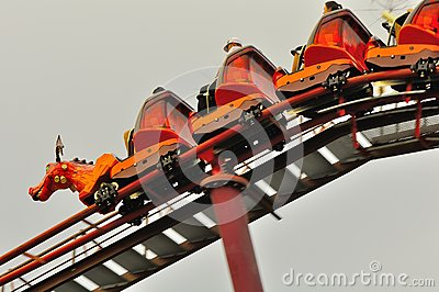 Universal Studio Singapore roller coaster Editorial Photography