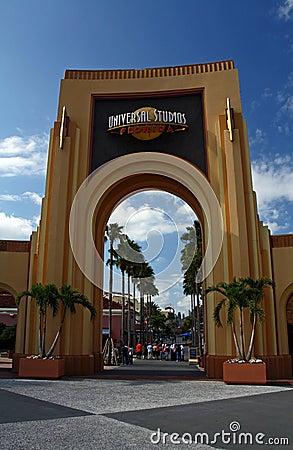 Universal Studios Entrance Editorial Stock Photo