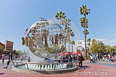 Universal Studios Hollywood Globe in Los Angeles Editorial Stock Photo
