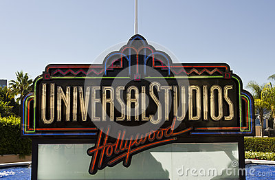 Universal Studios Hollywood Sign Editorial Photography