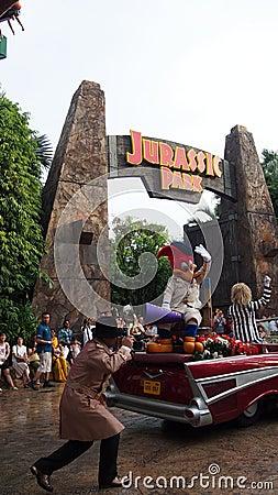 Universal Studios Singapore Beetlejuice Woody Woodpecker Editorial Image