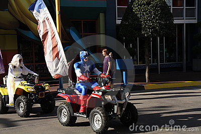 Universal Studios Super Heroes Editorial Image