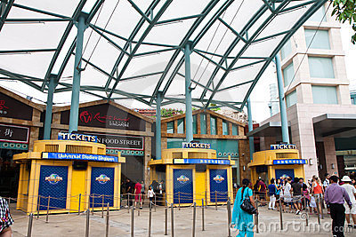 Universal Studios Ticket Booth Editorial Photo