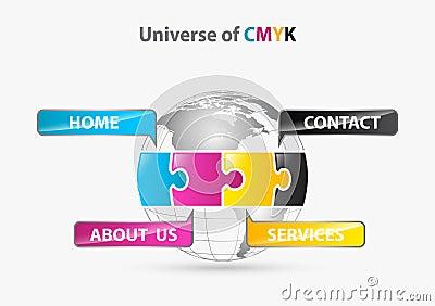 Universe of cmyk