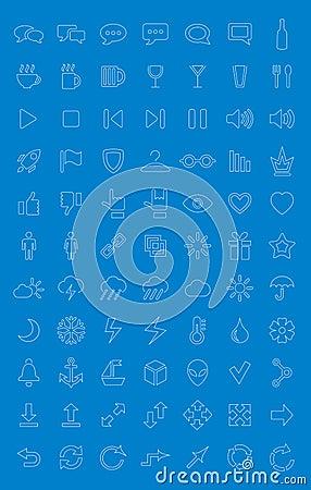 Universele geplaatste pictogrammen