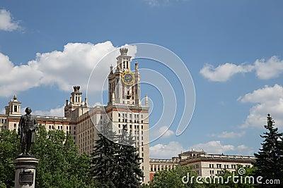 Universidad de estado de Lomonosov Moscú, edificio principal, Rusia