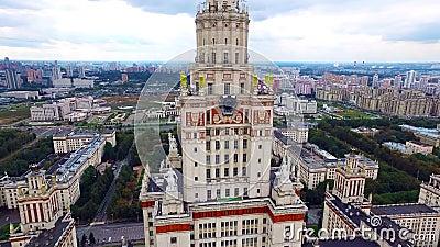 Université de Moscou aux collines de moineau banque de vidéos