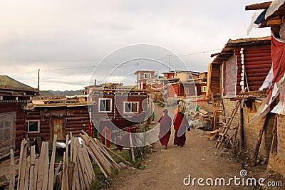 Université de bouddhisme de Seda Larong Wuming Photographie éditorial