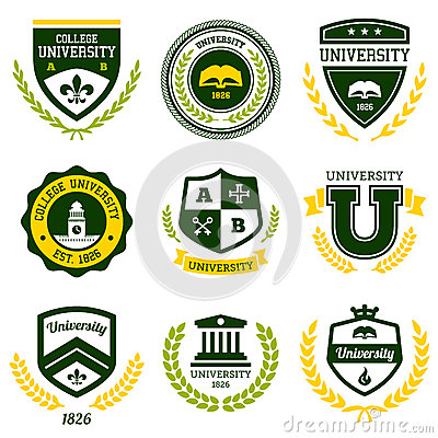 Free University And College Crests Royalty Free Stock Images - 32184899