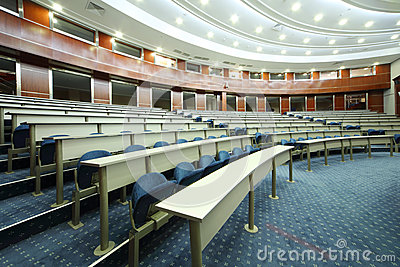 University audience in MGIMO Editorial Stock Image