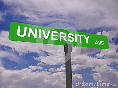 University avenue sign