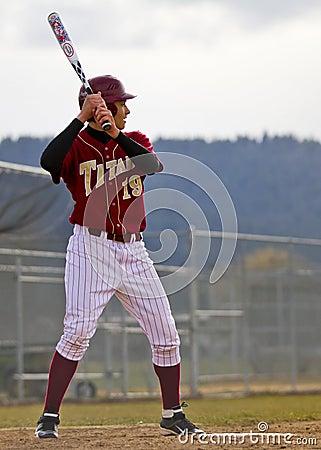 University Baseball Batter