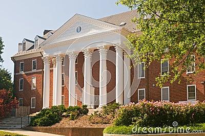 University building landscaping