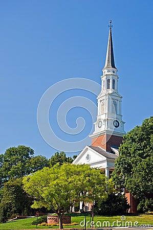 University chapel steeple